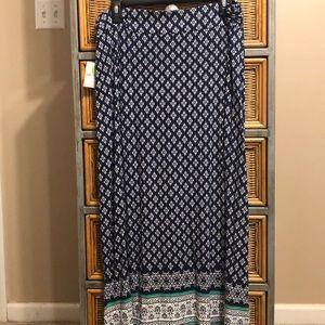 NWT Liz Claiborne maxi skirt petite large
